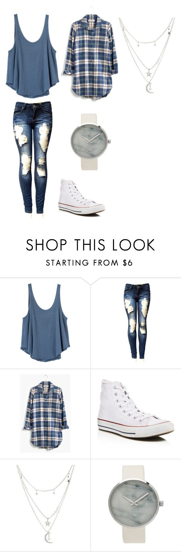 """""""pliad"""" by kathrine7160 on Polyvore featuring RVCA, Madewell, Converse and Charlotte Russe"""