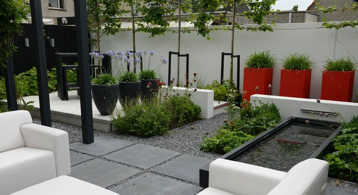 Moderne onderhoudsvriendelijke achtertuin - Foto 4