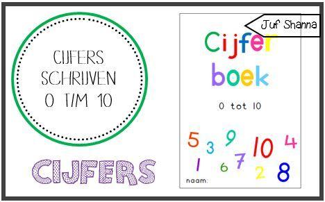 Werkbladen: cijfers schrijven