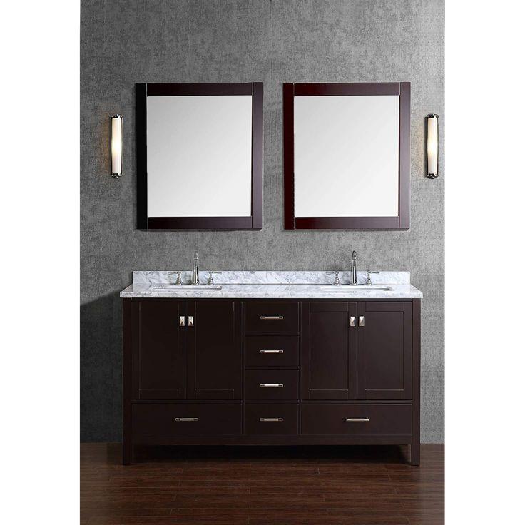 Vincent 60 solid wood double bathroom vanity bathroom - 60 inch unfinished bathroom vanity ...