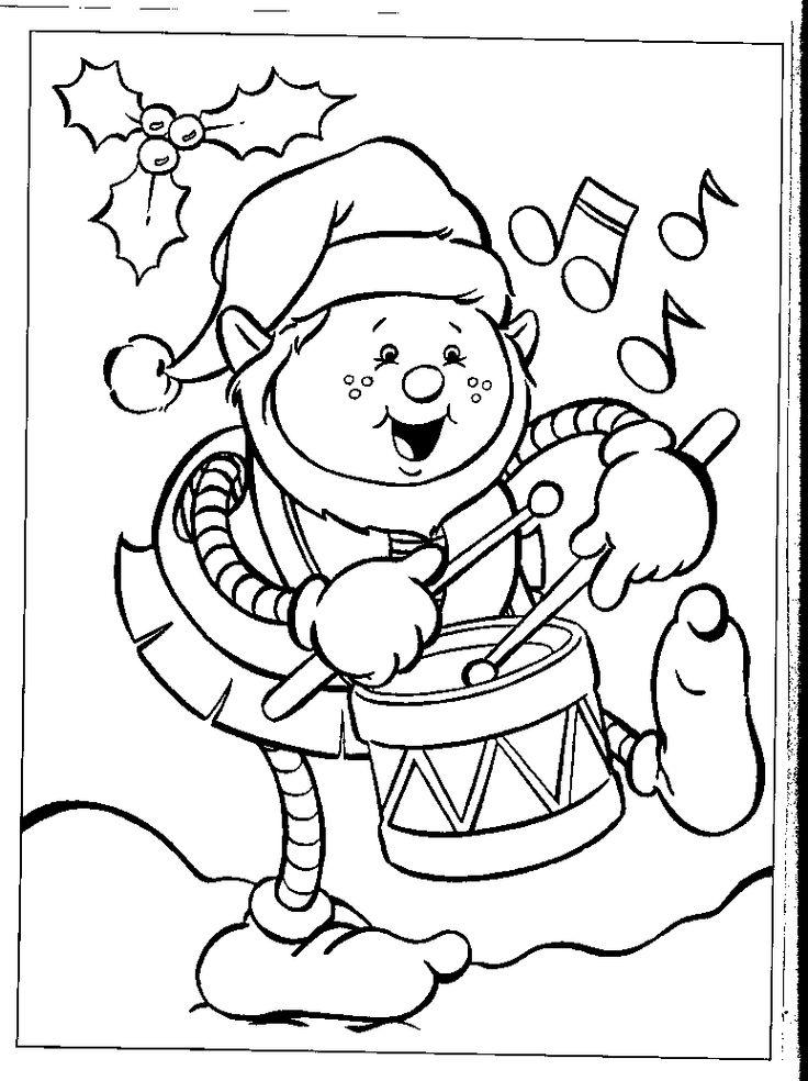Player Drum Colour Page Aktiviteter for børn, Børn