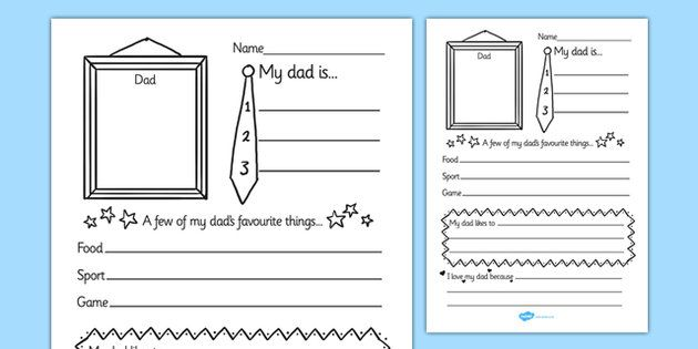 Father's Day 'About My Dad' Writing Frame - father's day, fathers day, fathers…