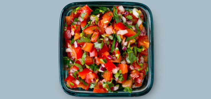 Salsa med tomat, rødløk og chili | Oppskrift på Lises blogg