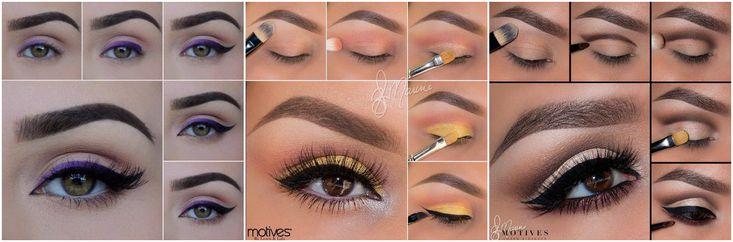 макияж для карих глаз пошагово.jpg (1200×396)