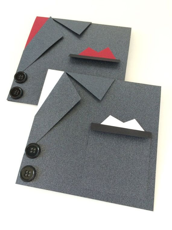 Men's suit card in black. Will you be my Best Man/ Groomsman/ wedding party card