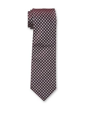 38% OFF Armani Collezioni Men's Check Tie, Burgundy