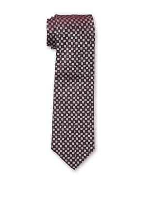 38% OFF Armani Collezioni Men's Check Tie, Burgundy
