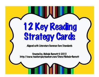 12 Amazing Reading Strategy Cards!