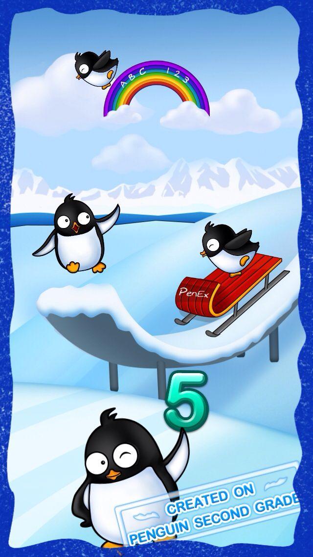 "2nd Grade kids Winter Olympics penguin team, on penguin iPad game ""Penguin Second Grade"" https://itunes.apple.com/us/app/penguin-second-grade-math/id732049976?mt=8"