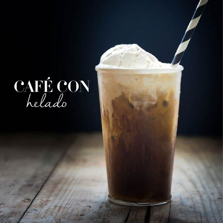 Café con Helado  Ingredientes 1/2 taza de granos de café 1/2 pinta de helado de vainilla o galleta  Preparación  Moler los granos de café y diluirlos en agua durante un par de horas. Colarlos y verter dos bolas de helado.  También lo pueden hacer con Pepsi o Coca-Cola, según su gusto.   Tomado de: Mirciny Moliviatis