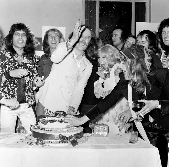 Queen and Mott the Hoople opening party 1973