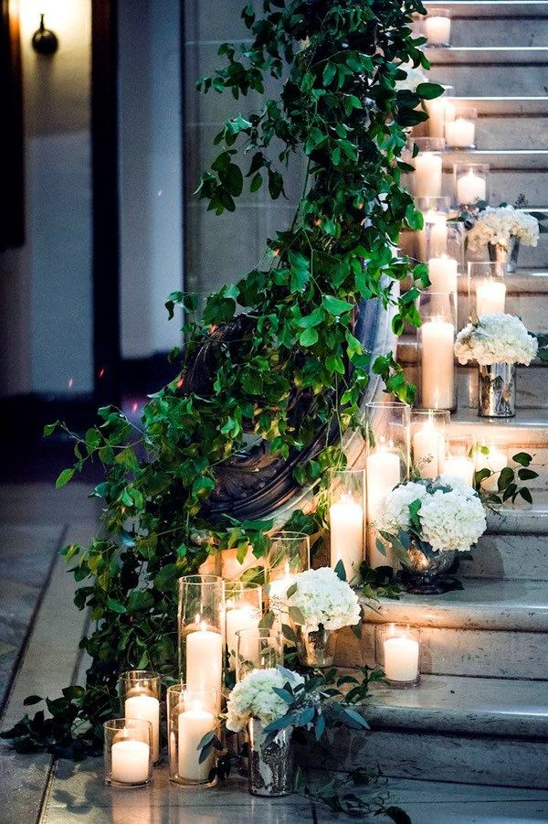 169 best staircase wedding garland images on pinterest wedding 21 unique wedding flower ideas too pretty not to try junglespirit Image collections