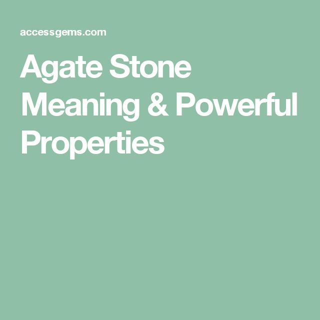 Agate Stone Meaning & Powerful Properties