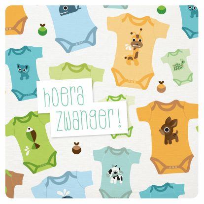 Felicitatiekaar Zwanger, gemaakt door Maaike Boot