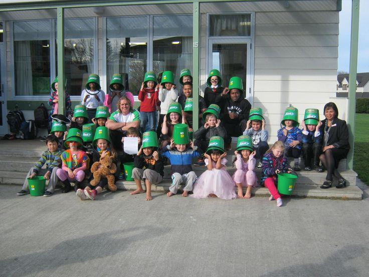 Even the kids (kiwi for children) get behind the buckethead craze #propertybrokers #manawatu #pnpersonnel
