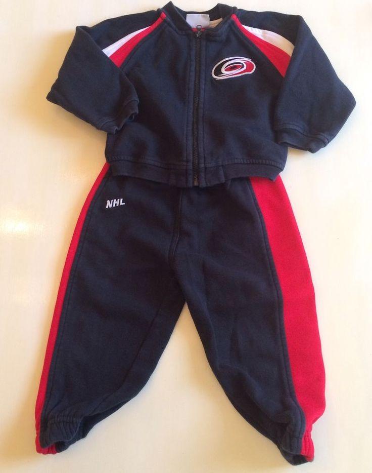 NHL Carolina Hurricanes Baby Boys 24 Months Bodysuit Hockey Sweat Suit 3pcs    eBay