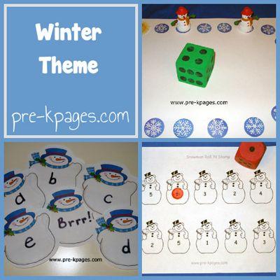 Winter Theme in Preschool