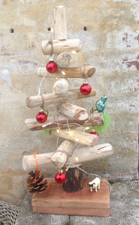 Driftwood Christmass Tree  Cool by HerbertBrandt on Etsy