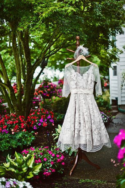 Vintage inspired wedding dress | Photo by: Erica Bader #BHLDN #vintage #wedding