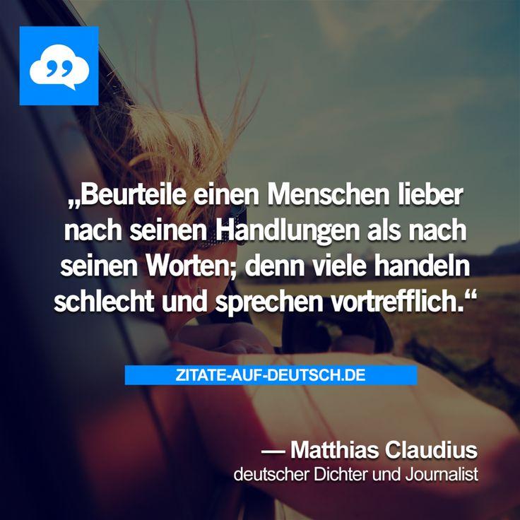 #Beurteilung, #Handlung, #Mensch, #Worte, #MatthiasClaudius