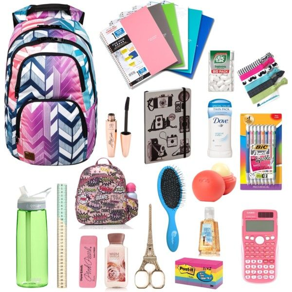 """BACK-TO-SCHOOL ESSENTIALS"" by senaidah on Polyvore"