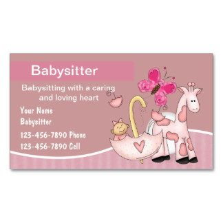 60 best business card images on pinterest business cards shop babysitting business cards created by luckyturtle reheart Gallery