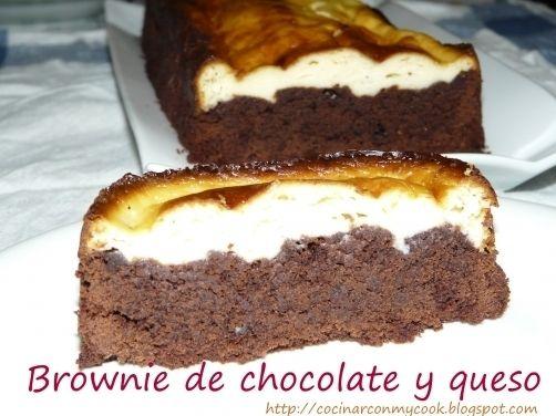 Brownie de chocolate y queso para #Mycook http://www.mycook.es/receta/brownie-de-chocolate-y-queso-2/