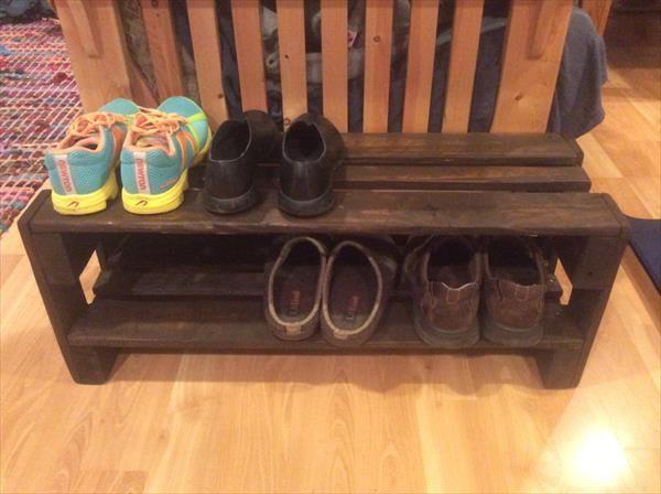 pallet shoes rack