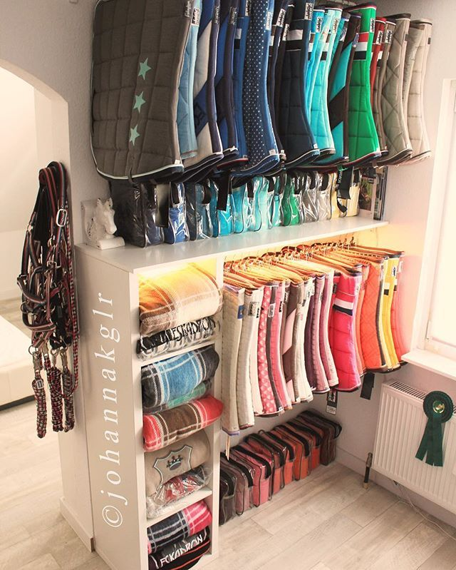 I'll take this entire saddle pad & boot collection. I also want all the organization and I praise the person who had the time and energy to do this.