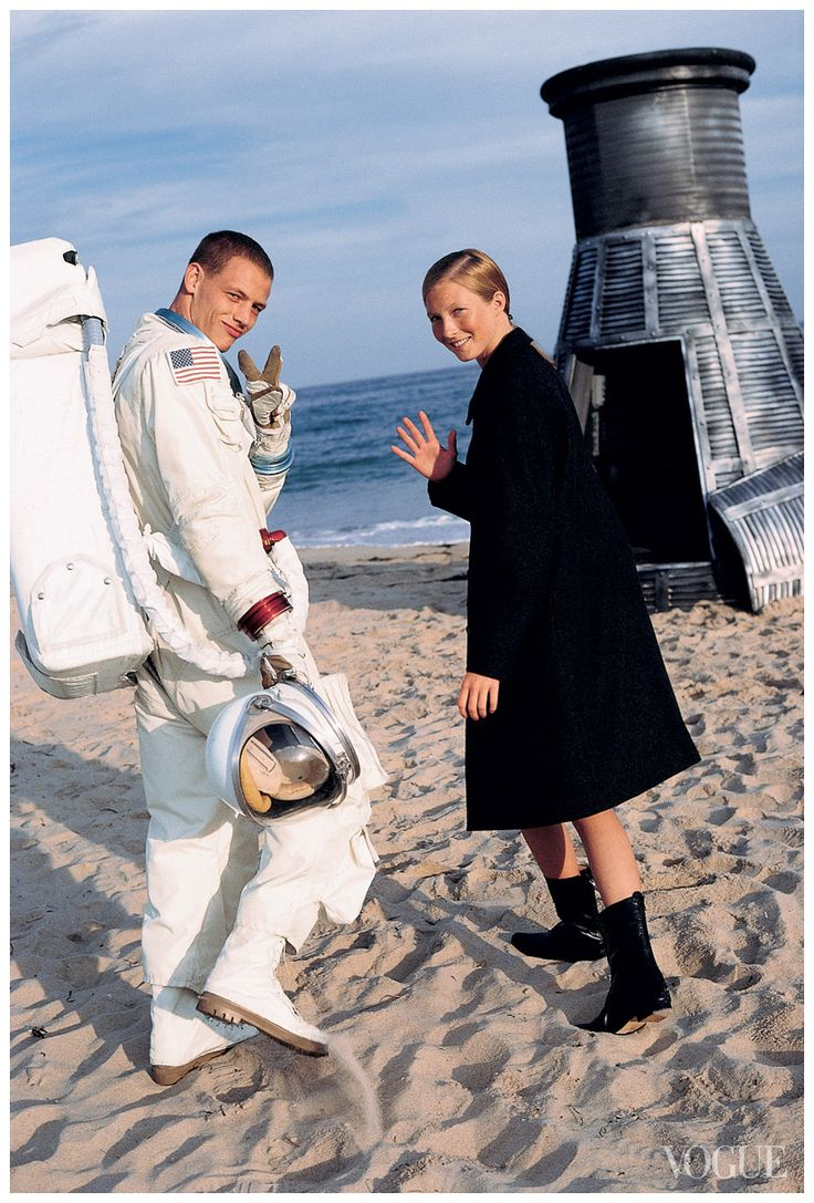 Photographed by Arthur Elgort, Vogue, November 1998 Ryan Locke, Maggie Rizer