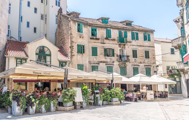 #alfresco #architecture #attraction #bar cafe #building #city #croatia #destination #europe #facade #famous #historic #house #outdoors #shop #sight #split #street #summer #tourism #tourist #town #traditional #travel #urb
