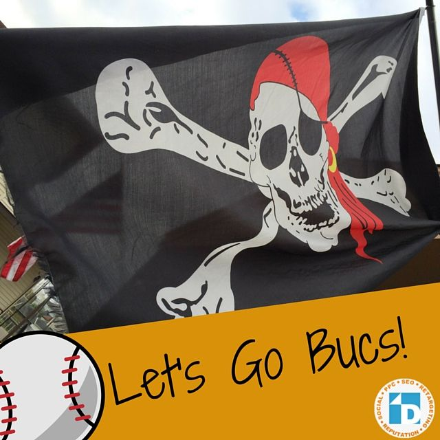 Guess what? It's #Buctober! The Pirates flag is flying high at Direct Online Marketing today.  #PittsburghPirates #letsgobucs