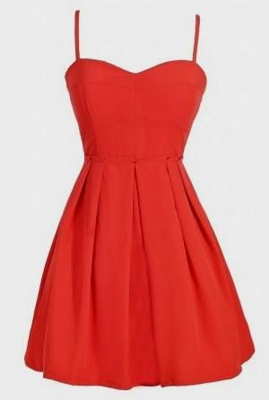 Lily Boutique Bright Red Coral Paperbag Waist Dress, Red Coral ...