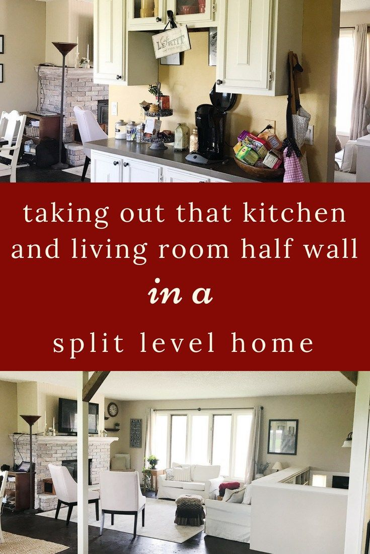 Diy Split Level Wall Renovation With Images Open Concept