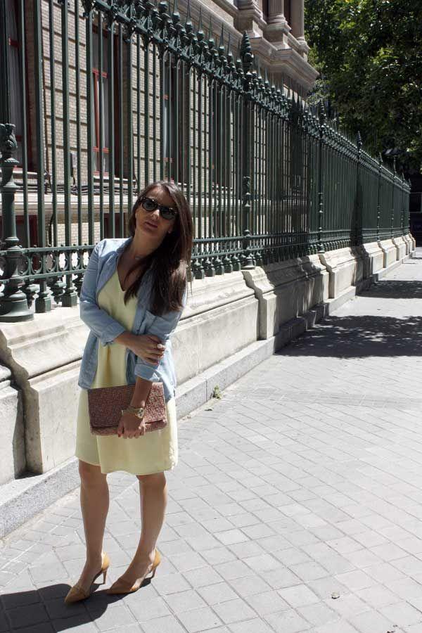 #LookPrimaveral #VestidoAmarillo #CamisaVaquera #ElRinconDeModa #erdm