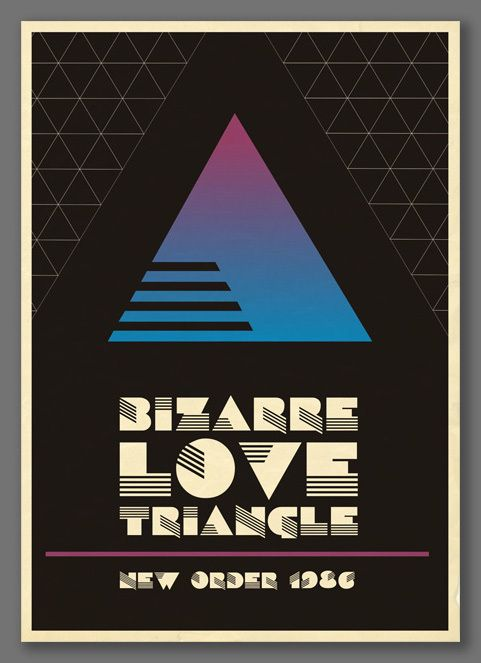 Bizarre Love Triangle by New Order - poster