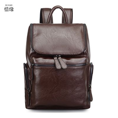 49.46$  Buy now - http://ali8uy.shopchina.info/1/go.php?t=32817415243 - XIYUAN Genuine Leather Men Backpack Large Capacity Man Travel Bags High Quality Trendy Business Bag For Man Leisure Laptop Bag  #aliexpress