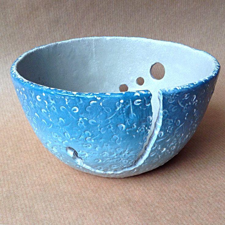 Polymer clay yarn bowl.