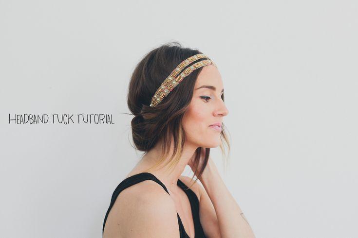 Hair Tutorial // Headband Tuck — Treasures & Travels #hairtutorial #headbandtuck