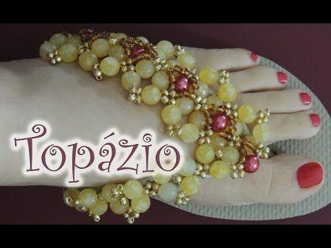 Chinelo decorado - Manta de cristais, pérola e missangas - YouTube
