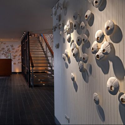 Nobu, Athens, Porcelain + Stainless Steel  #GangbarART Previous Works | Ken Gangbar Studios | Scupture and Installation