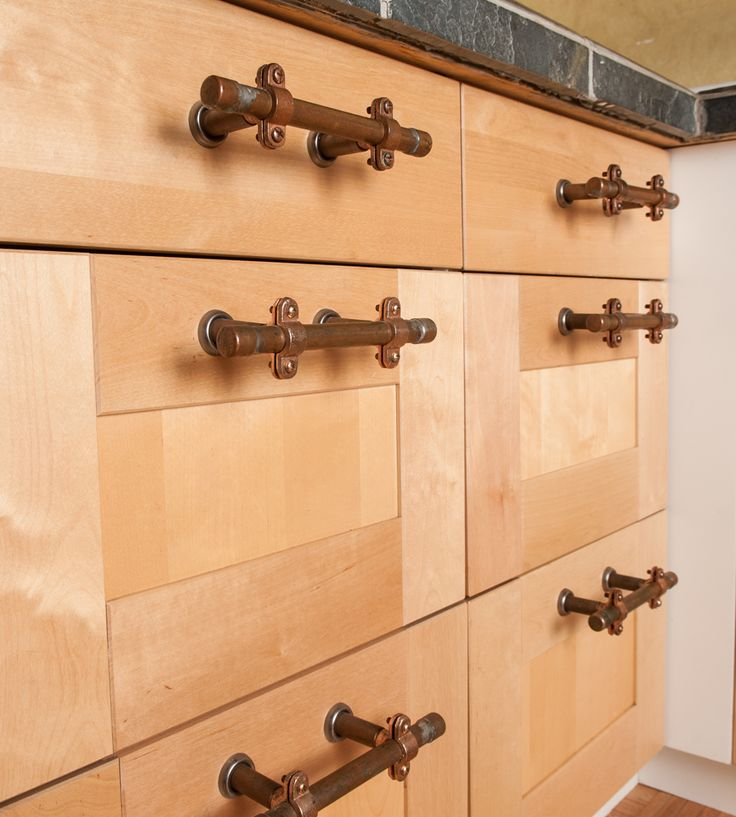 Copper Kitchen Cabinet Handles: Drawer Pulls, The Pipe And How To Chalk Paint