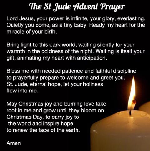 The St Jude Prayer for Advent