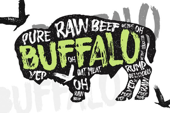 Buffalo - Display Typeface by Layerform Design Co. on @creativemarket