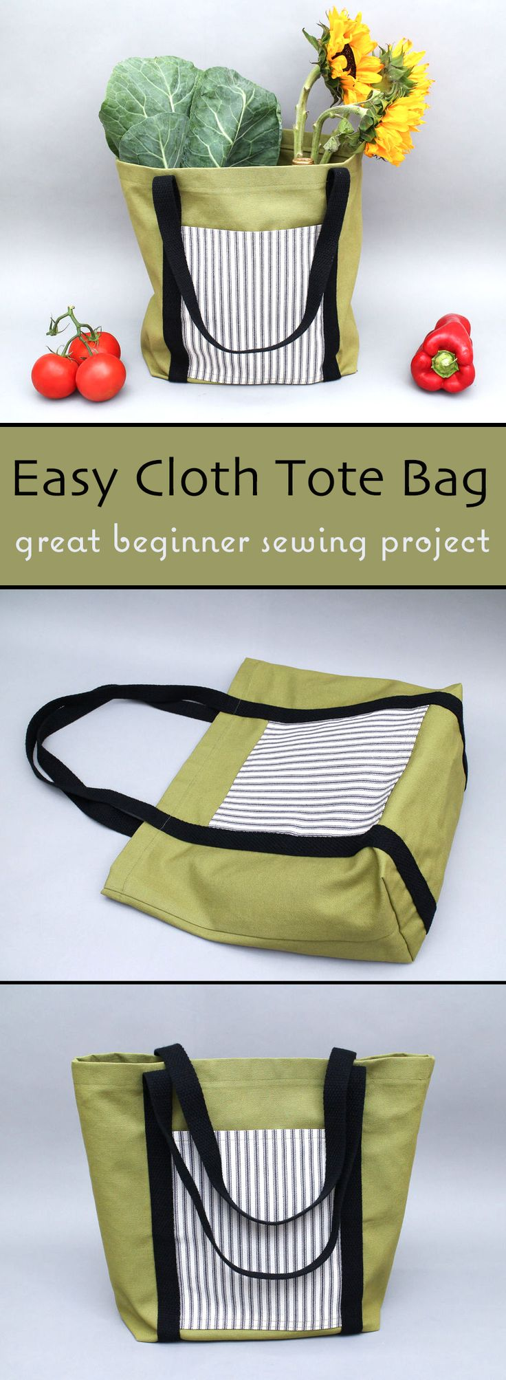 No matter what your level of sewing expertise, this useful bag is a great projec…