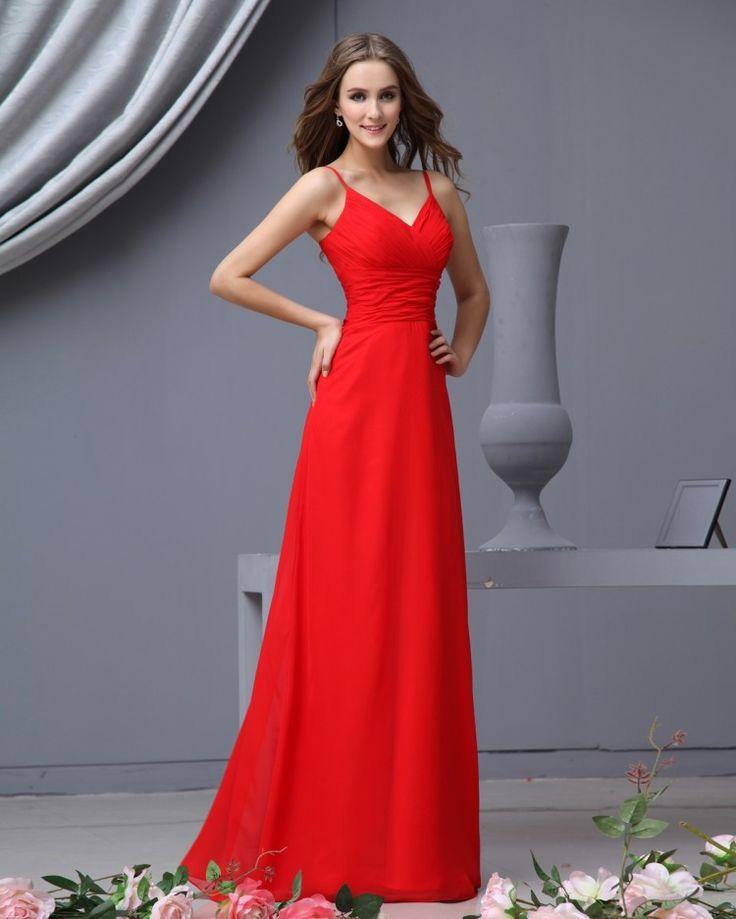 Red Chiffon Wedding Dresses