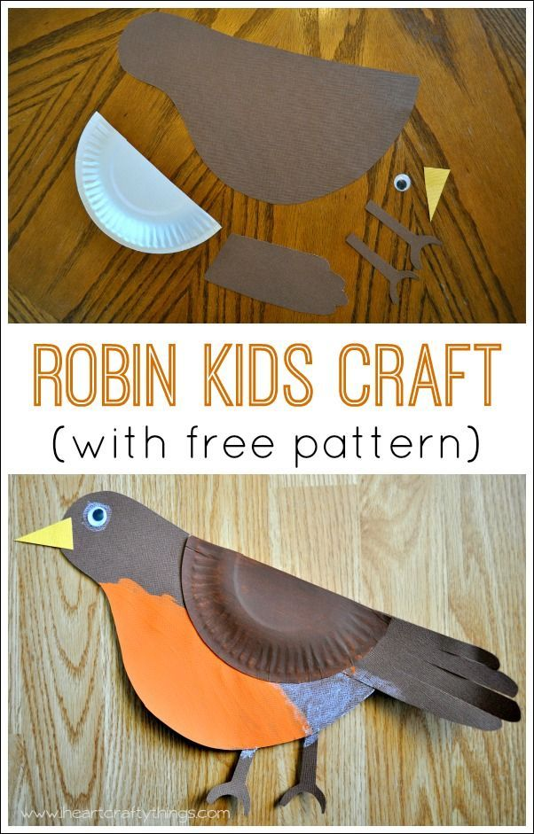 Learn About Robins And Make This Cute Robin Bird Kids Craft Great Spring For