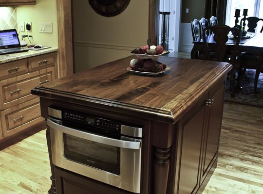 Shown In The Plank Construction Style With A Nagra Edge Profile, Distressed  Finish And Satin · Walnut CountertopWood CountertopsKitchen ...