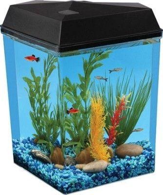 AQUATICS - FISH BOWLS - AQUAVIEW LED CORNER AQUARIUM - 2.5 GAL - KOLLER PET GROUP - UPC: 49146250009 - DEPT: AQUATIC PRODUCTS