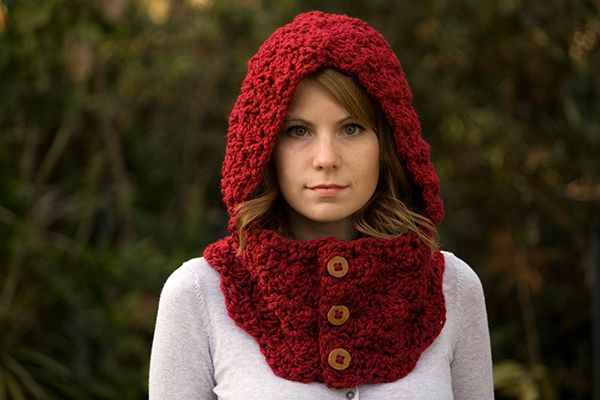 Hooded cowl crochet by Well-Ravelled